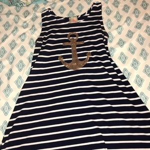 Other - Navy and white striped anchor  dress